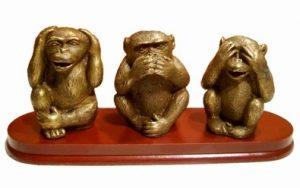 Les trois singes de la sagesse : des sens à trois niveaux …